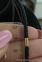 Кожаный шнурок на шею  с золотыми вставками 0