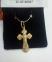 Крестик золотой православный 2