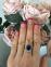 Золотое кольцо с сапфиром 0