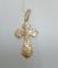 Крестик золотой православный 0
