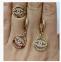 Золотое кольцо Шанель бренд 7