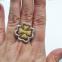 Золотое кольцо из лимонного золота  АМЕЛИЯ 2