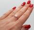 Золотое кольцо с фианитом Цветана 1