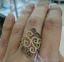 Золотое кольцо из желтого золота Аланья 0
