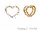 Золотая подвеска Сердце 0
