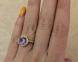 Золотое кольцо с аметистом 0