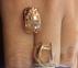 Золотые серьги с алмазной гранью Сара 0