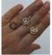 Золотое кольцо Шанель бренд 5