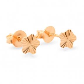 Золотые серьги гвоздики с алмазной гранью