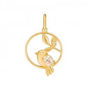 Золотой кулон Птица счастья