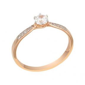 Золотое кольцо помолвочное Важный момент