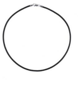 Шнурок на шею с серебряной застежкой