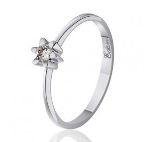 Кольцо из белого золота с бриллиантом Айрин