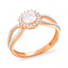 Золотое кольцо с фианитом Вдохновение