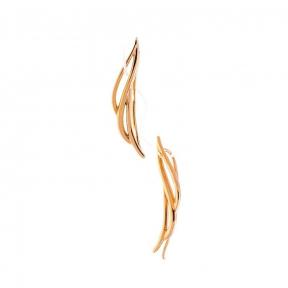 Золотые серьги-каффы Крылья Ангела