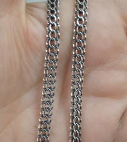 Серебряная цепь Питон черненная
