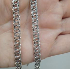 Серебряная цепь Бисмарк крупный