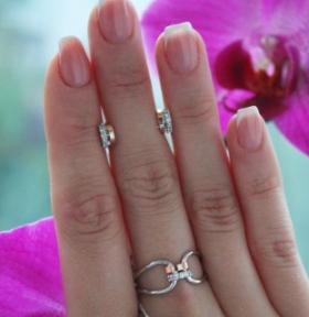 Серебряное кольцо с золотом Лилиана