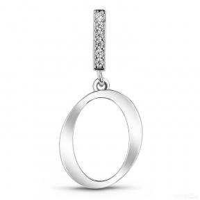 Серебряная буква О