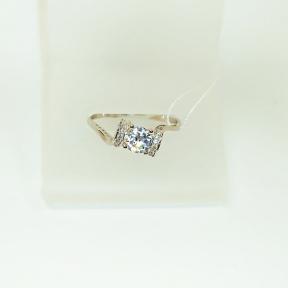 Серебряное кольцо с цирконием Владлена