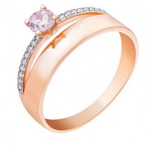 Золотое кольцо двойное Мечта