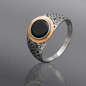 Серебряный перстень с ониксом