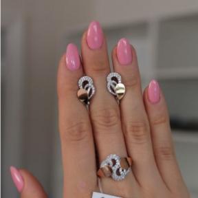 Серебряное кольцо с золотом Валенсия