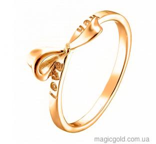 Золотое кольцо с бантиком Лав Ю