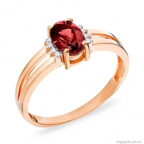 Золотое кольцо с гранатом Маделина