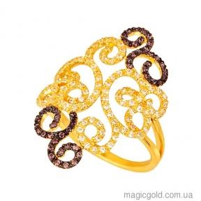 Золотое кольцо из желтого золота Аланья