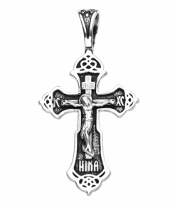 Крест черненный мужской