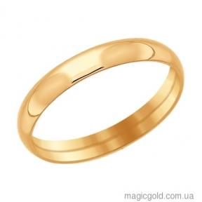 Обручальные золотые кольца Классика