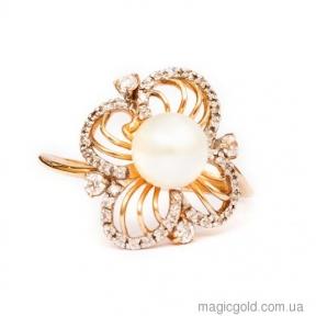 Золотое кольцо с жемчугом Камилла