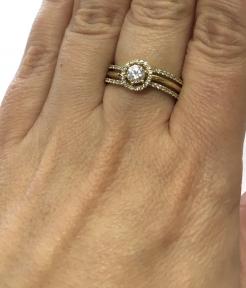 Кольцо желтое золото Хлоя