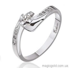 Кольцо из белого золота с бриллиантом Идиллия