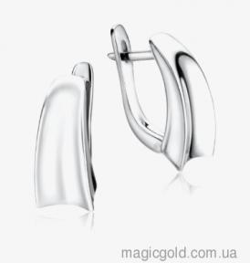 Серебряные серьги без вставок Кассандра