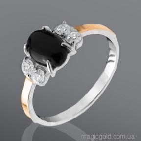 Серебряное кольцо с ониксом Шерил