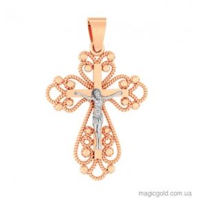 Женский золотой крестик Ажур