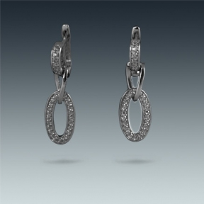Серебряные серьги с цирконом