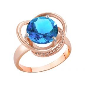 Золотое кольцо с топазом Вилона