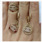 Золотое кольцо Шанель бренд