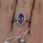 Золотое кольцо с аметистом Феерия